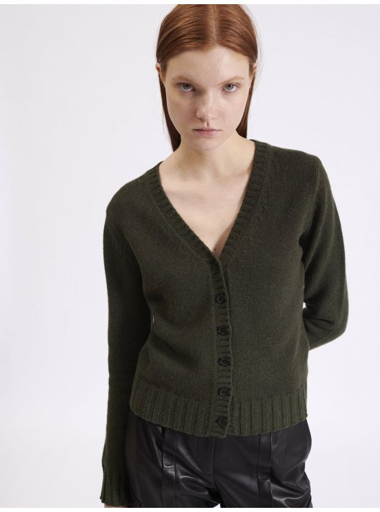 Wool fitted cardigan