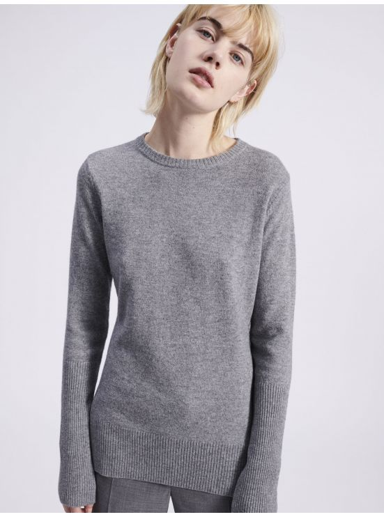 Wool and cashmere crewneck jumper