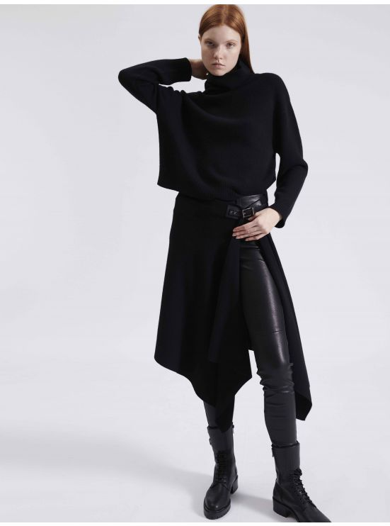 Wool and cashmere pareo