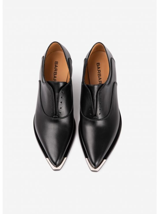 Derbies lacées en cuir