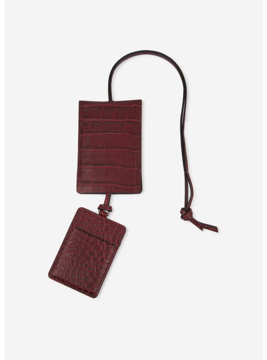 Embossed leather card holder kit