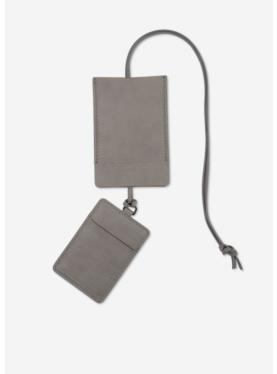 Grained leather card holder kit