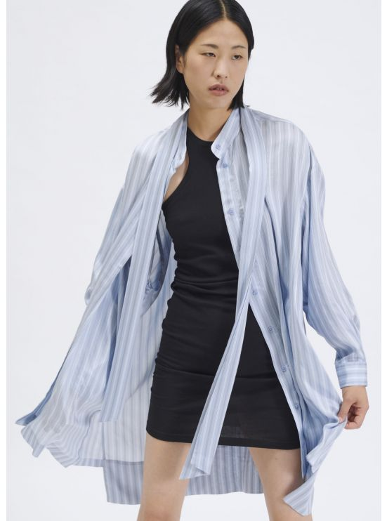 Robe chemise oversize à rayures