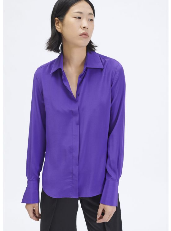 Fitted crepe de chine shirt