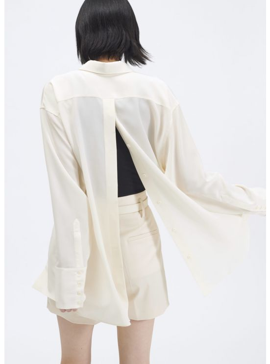 Oversized crepe de chine shirt