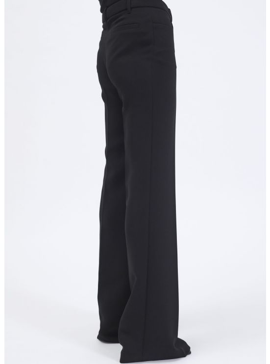 Flare crepe trousers
