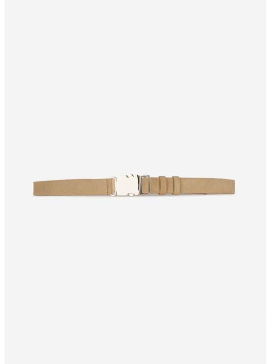 Thin velvet leather belt