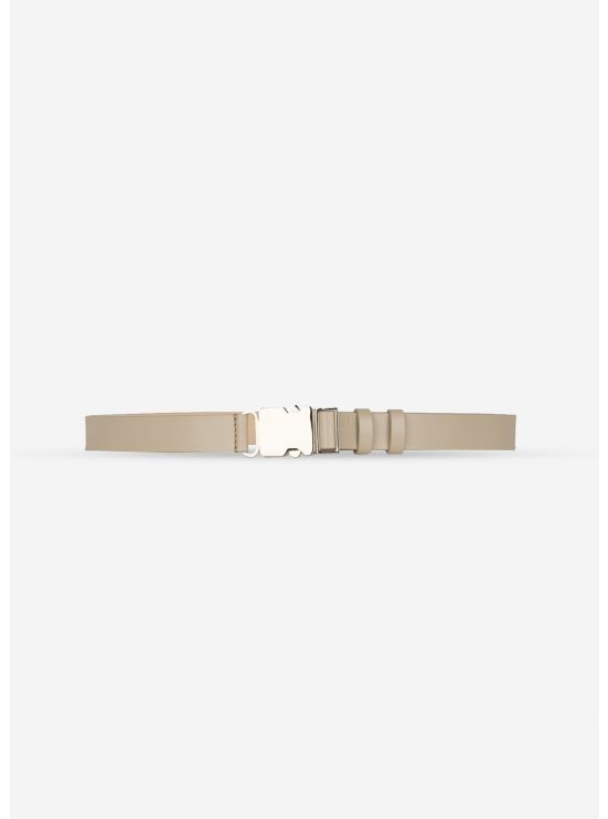 Thin leather belt