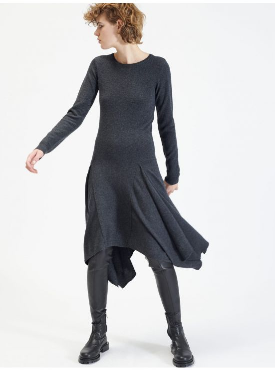 Wool and cashmere scarf dress