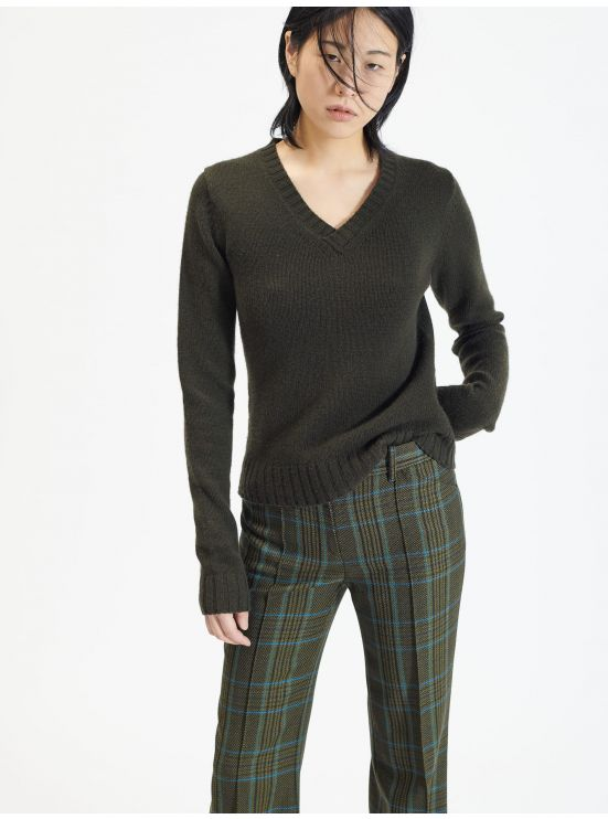 Wool and cashmere V-neck sweater