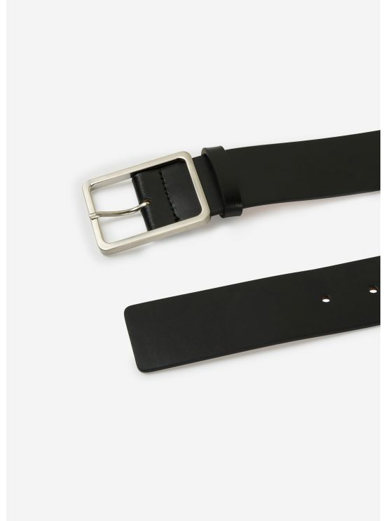 Military belt in black leather