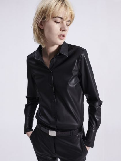 Light vegan leather shirt