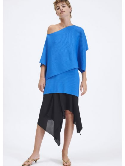 Oversized ribbed knit top