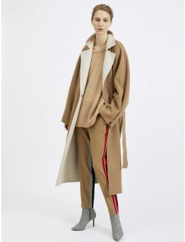 Wool and cashmere belted coat