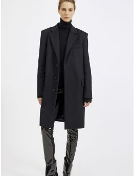 Wool and cashmere overcoat