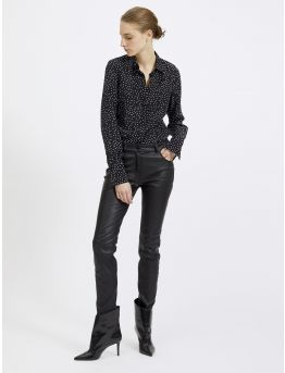 Silk blend polka dot shirt