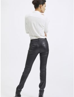Five-pocket Stretch lambskin skinny trousers
