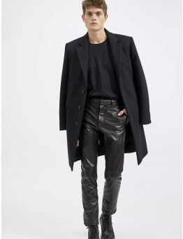 Lambskin city trousers