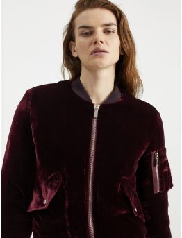 Velvet teddy jacket