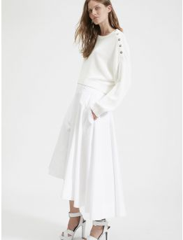 Asymetrical cotton skirt