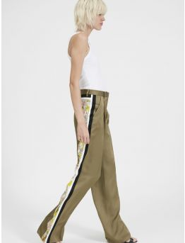Pantalon large graphique