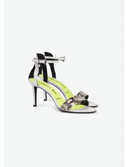 Leather and watersnake sandals