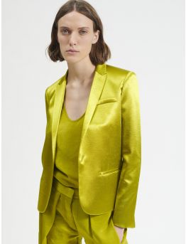 Tailored jacket in satin