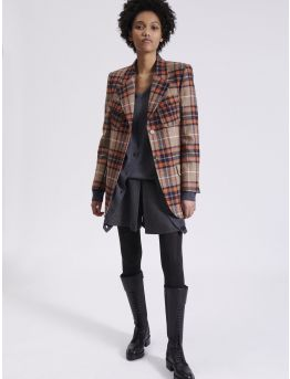 Orange tartan tailored jacket