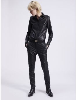 "Light vegan leather ""Roxy"" trousers"