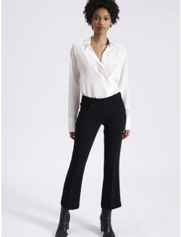 7/8 crepe bell bottom trousers