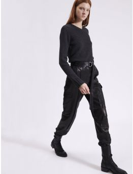 Leather battle trousers