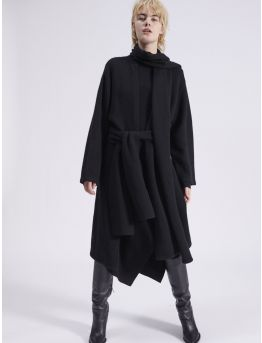 Wool and cashmere coat