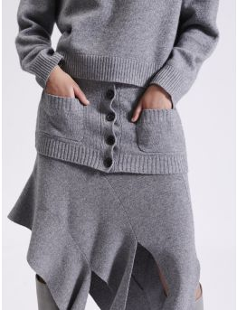 Wool and cashmere skirtlet