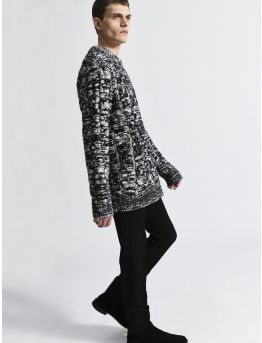 Two-tone cable knit jumper