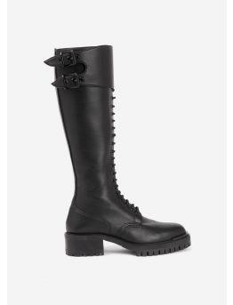 Combat high boots in vegan leather