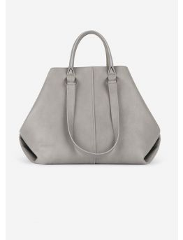 Boyfriend tote bag in grained leather