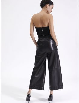 Large 7/8 leather trousers