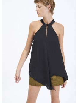 Double georgette scarf top