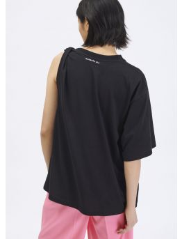 Asymmetrical cotton jersey t-shirt