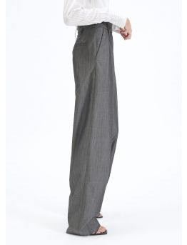 Large grey Prince of Wales dart trousers