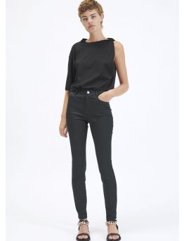 Pantalon 5 poches en gabardine stretch