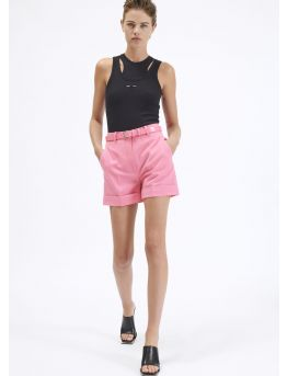 Crepe tailored shorts