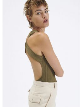 Backless knit tank top